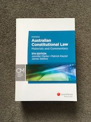Hanks' Australian Constitutional Law: Materials and Commentary, 9th Edition