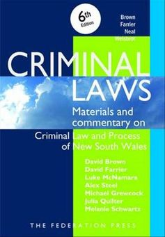 Criminal Laws Materials & Commentary