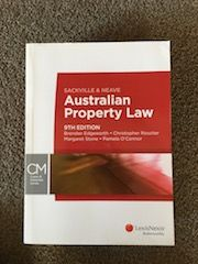 Sackville and Neave Australian Property Law, 9th edition