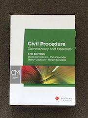 Civil Procedure: Commentary & Materials, 5th Edition